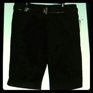 Apt 9 shorts NEW Black Bermuda pants women's 16